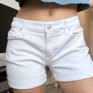 Vineyard Vines white jean shorts